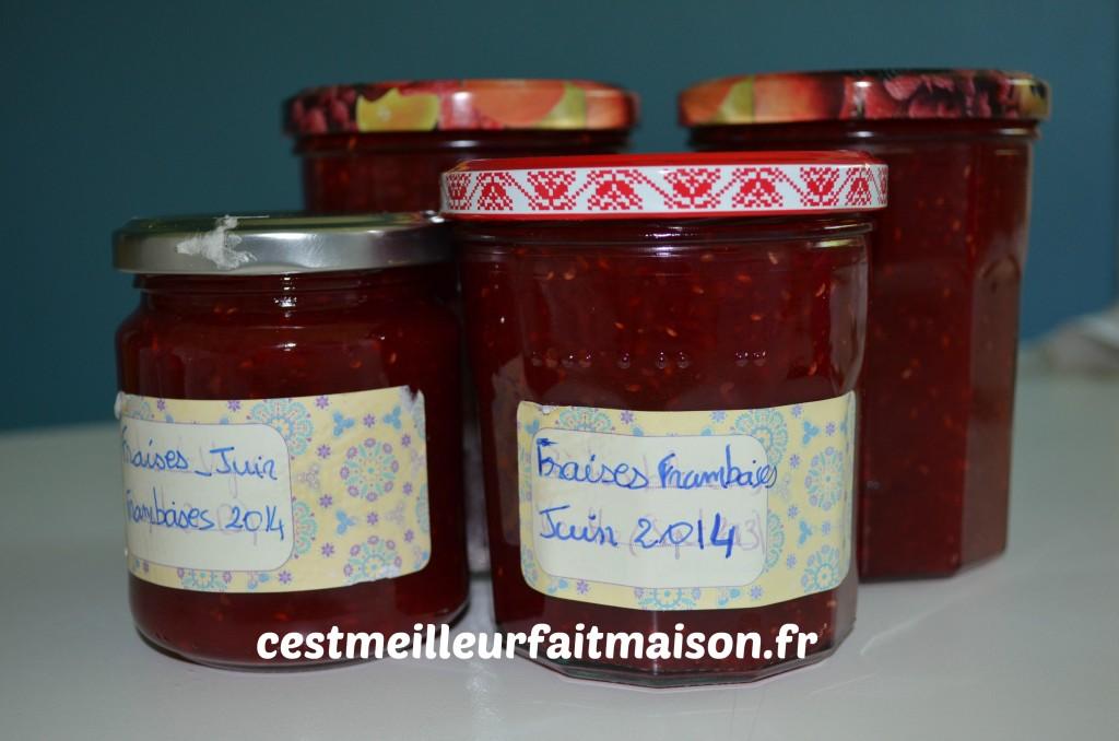 Confiture fraises framboises