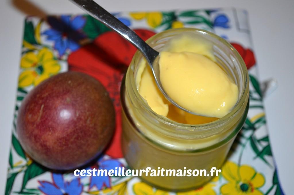 Crème aux fruits de la passion