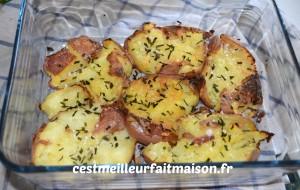 Pommes de terre écrasées rôties