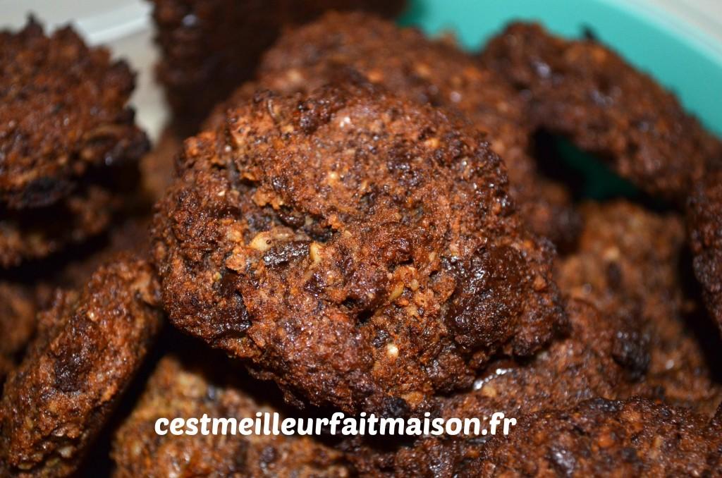 Cookies chocolat noix (sans gluten, sans œufs, sans lait)