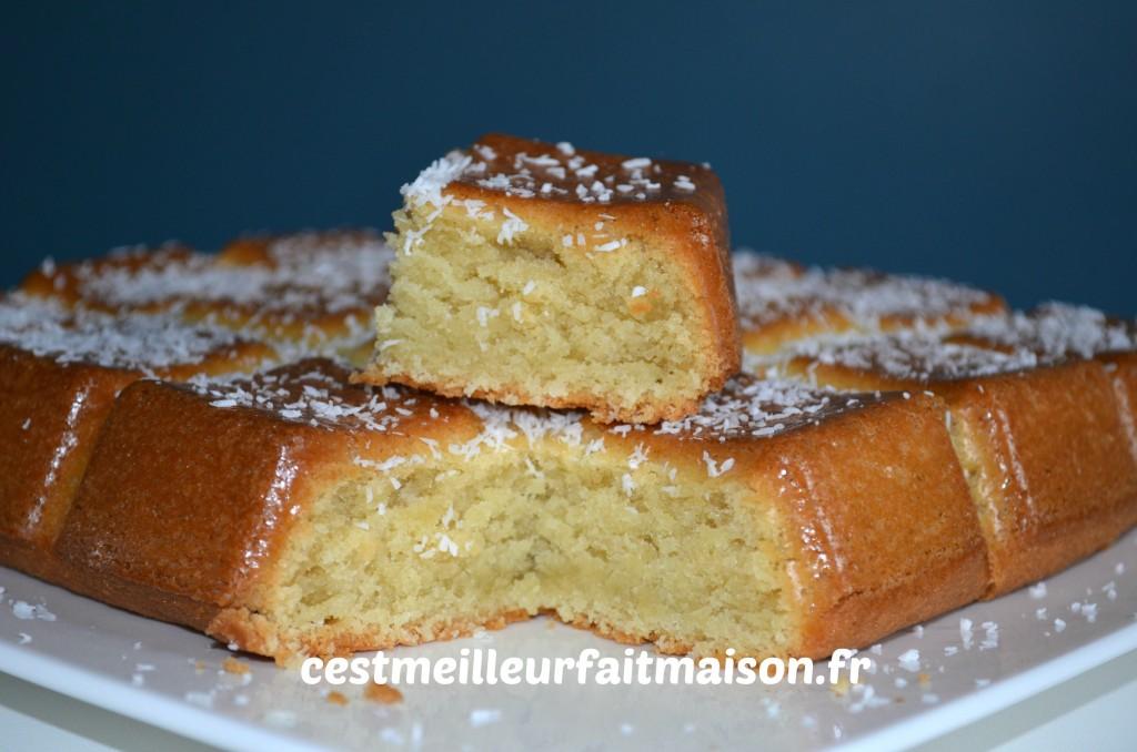 G teau fondant la noix de coco c 39 est meilleur fait maison - Recette dessert rapide thermomix ...