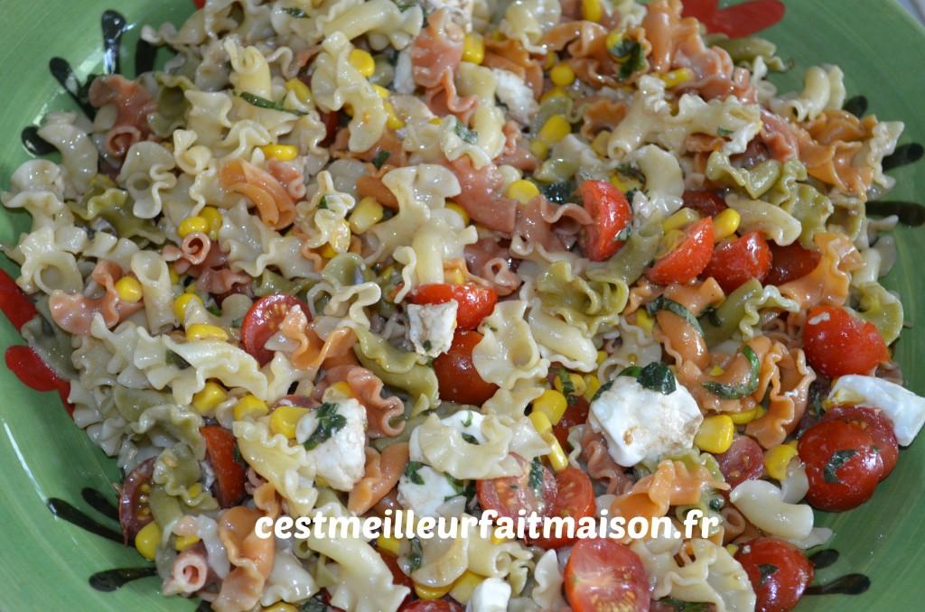 Salade de pâtes multicolores