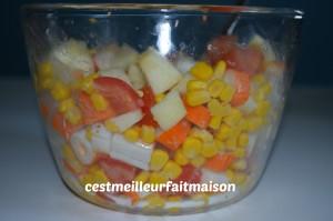 Salade au surimi