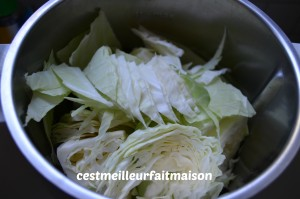 Salade au chou blanc