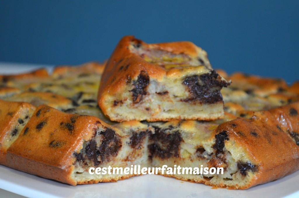 Gâteau banane chocolat