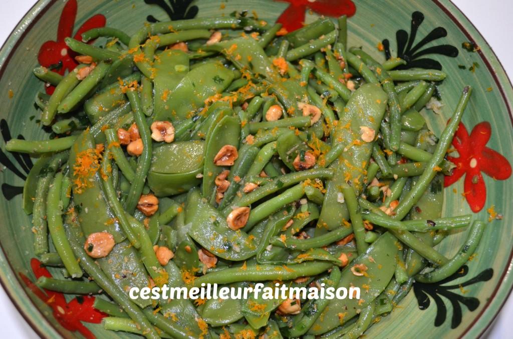 Salade de haricots verts et pois gourmands (Ottolenghi)