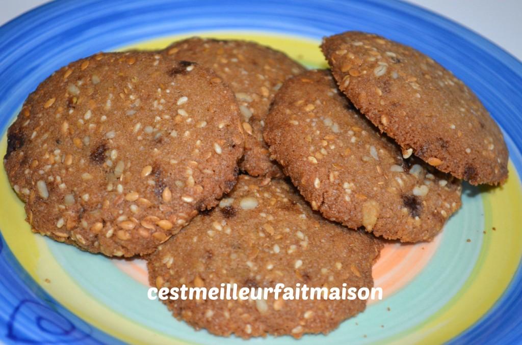 Sablés aux graines (sans gluten, sans œuf, sans laitage)