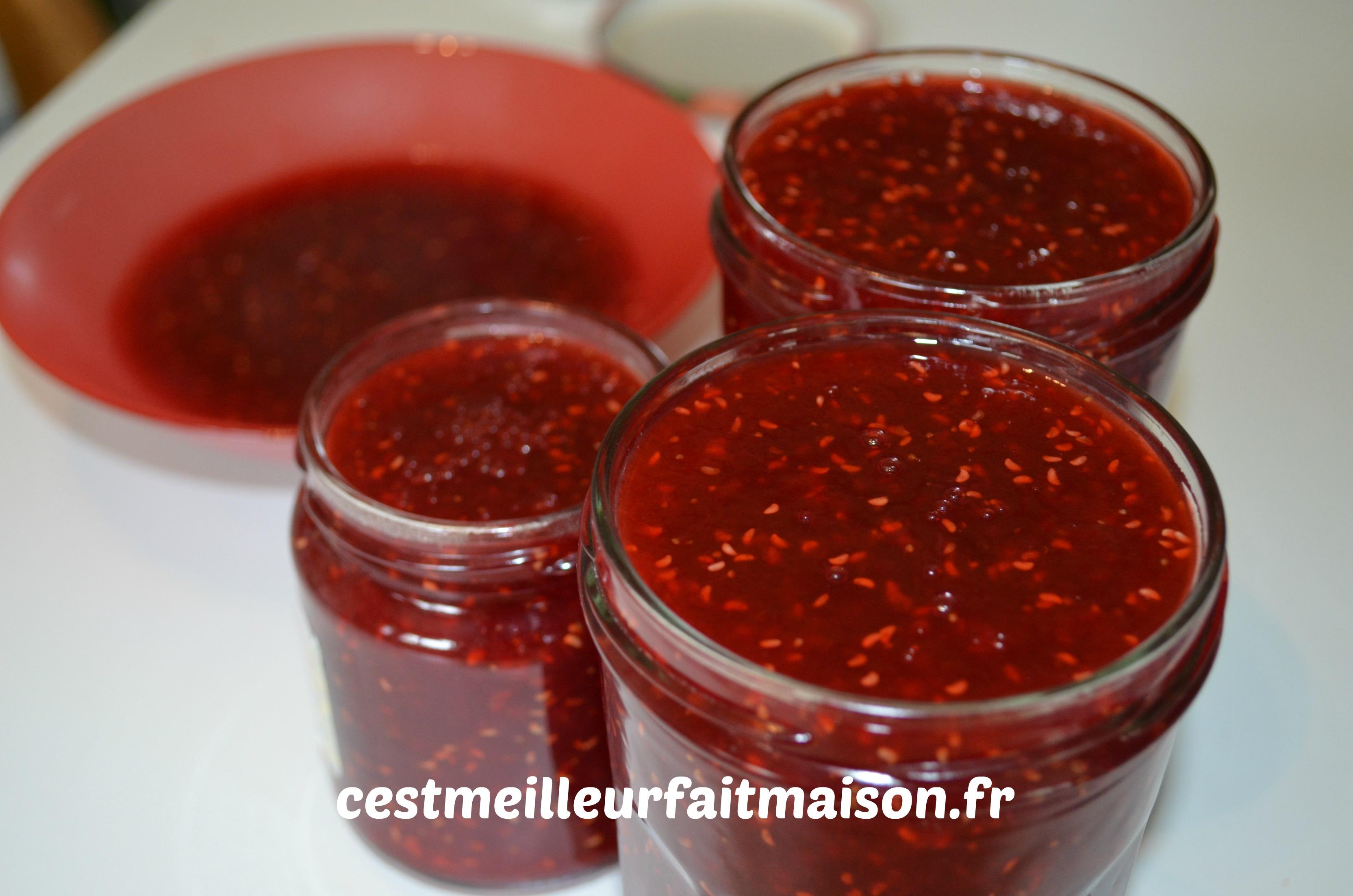 confiture fraises ramboises
