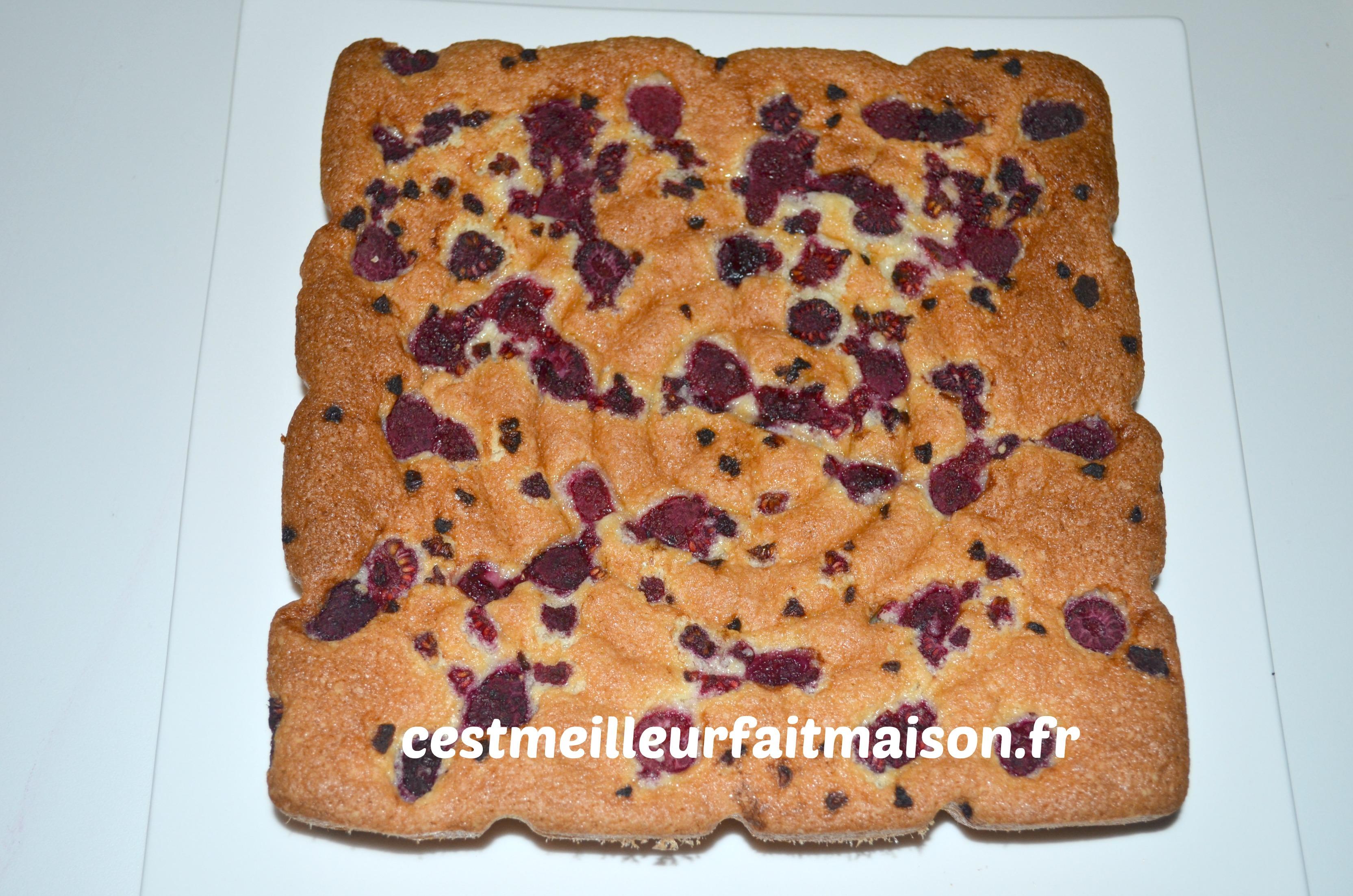 Gâteau aux amandes et aux framboises
