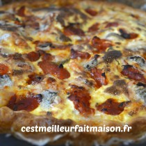 Quiche au Sainte Maure de Touraine