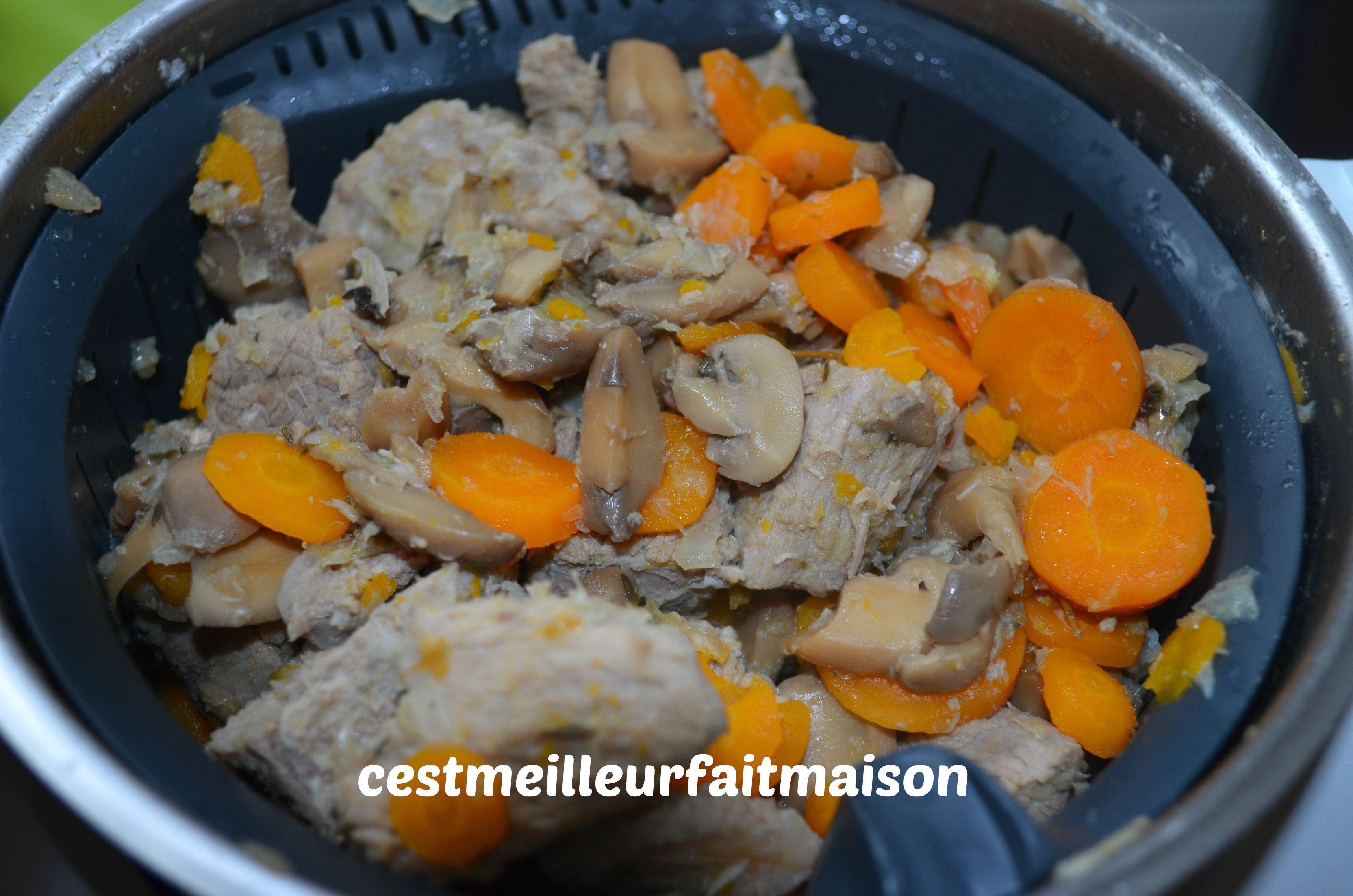 blanquette de veau au thermomix c 39 est meilleur fait maison. Black Bedroom Furniture Sets. Home Design Ideas