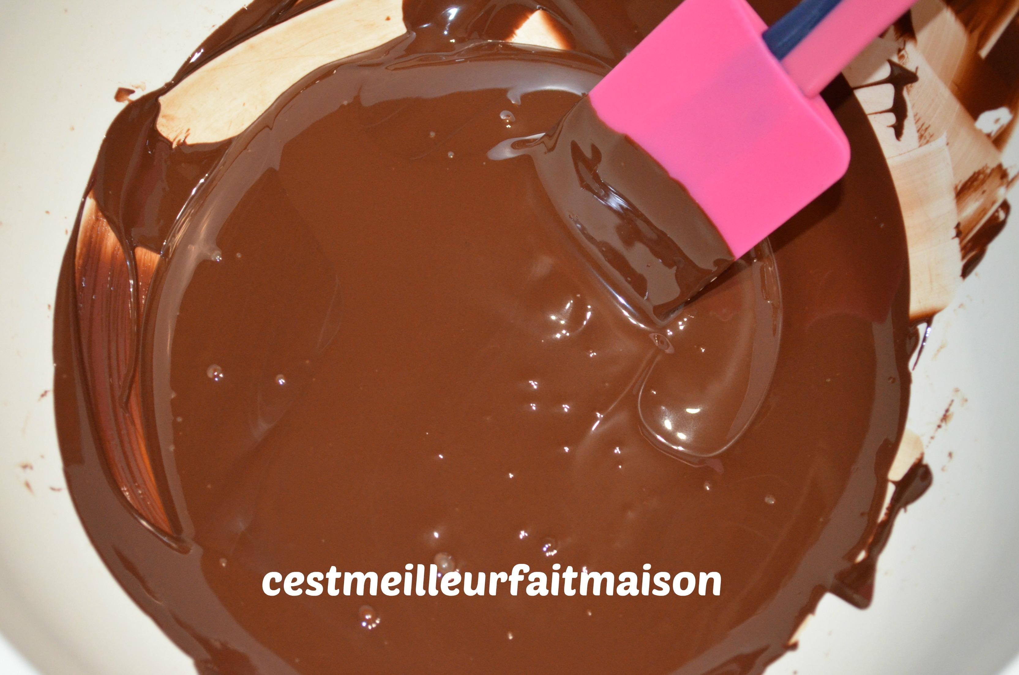 Fondant au chocolat et aux framboises