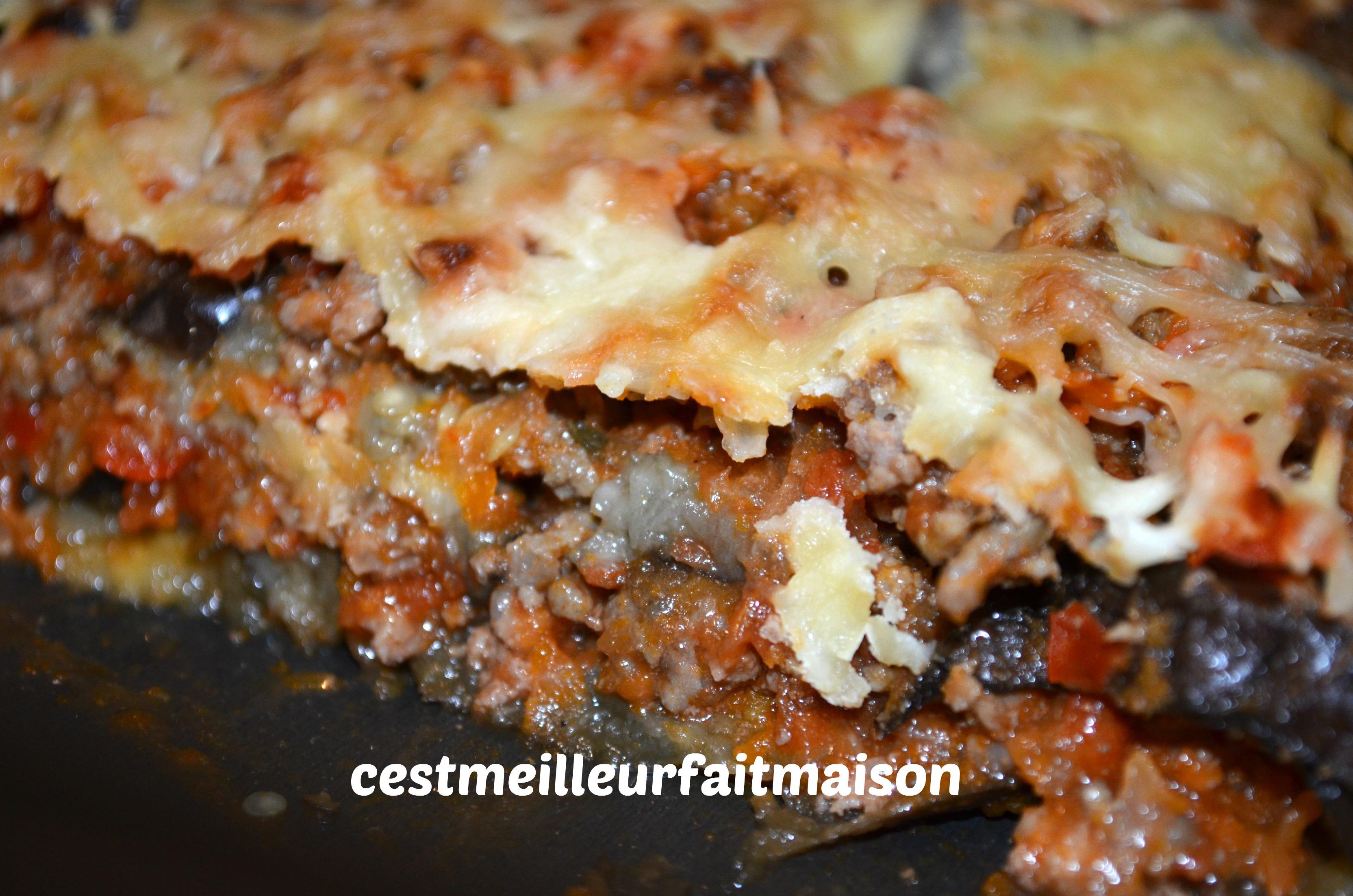 Gratin d'aubergines à la bolognaise
