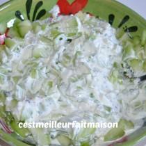 Sauce au yaourt et au concombre