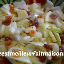 Salade d'endives aux poires