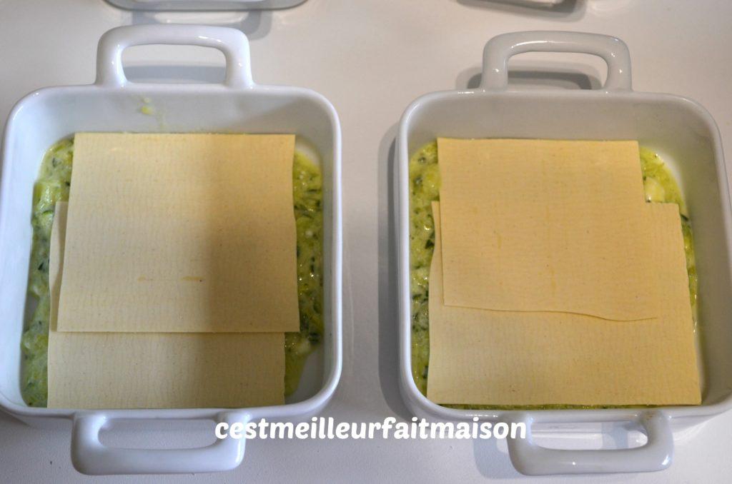 Lasagne courgette chèvre