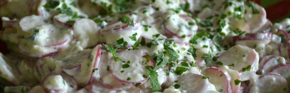Salade de radis au chèvre